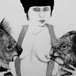 Rosana Antolí. Fierce Girl with Koalas. Madrid, 2012