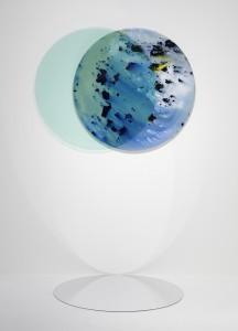 Cristina Gamón. Eclipse.   Midnight   Sun   Series, 2017. Vista en la Galería Lucía Mendoza con motivo de la muestra Unstable   Paintings