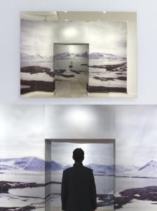 """Cristina Gamón. Sea Haze, 2017. Vista en exposición en la Galería Lucía Mendoza. Realizada ex profeso con motivo de la muestra """"Unstable Paintings"""""""