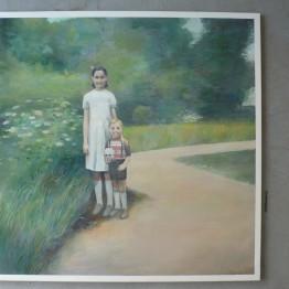 Federico Granell. Niños con calavera