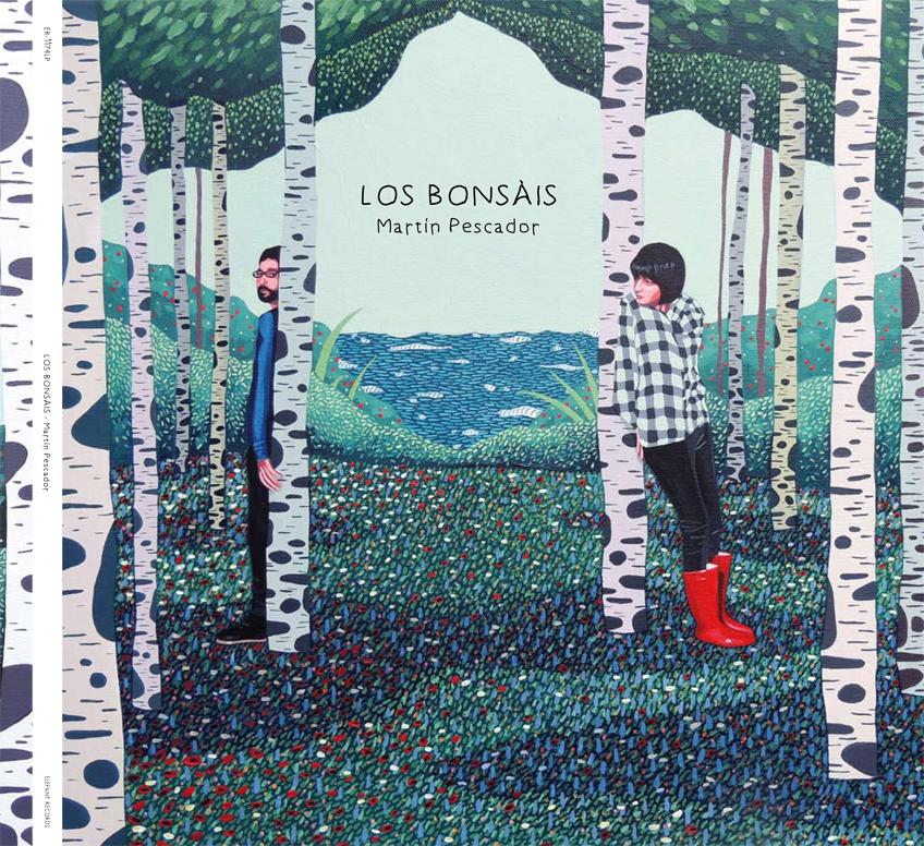 """Imagen realizada par el Mini-LP de Los Bonsáis """"Martín Pescador"""" editado por Elefant Records"""