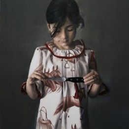 María Carbonell. The knife. Serie Fake, 2015