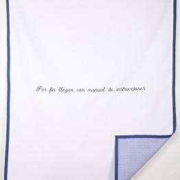 Alba Navas Salmerón. Dulces consejos. 6 Mantas de cuna con slóganes extraídos de revistas para futuros padres, 2009