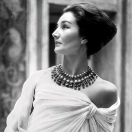 Roloff Beny. Jacqueline de Ribes in Christian Dior, 1959