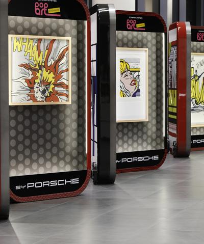 Caravana Pop Art. Roy Lichtenstein by Porsche