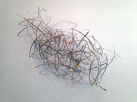 David Rodríguez Caballero. 27 de enero de 2017. Acero y latón, 2017. Galería Aurora Vigil-Escalera