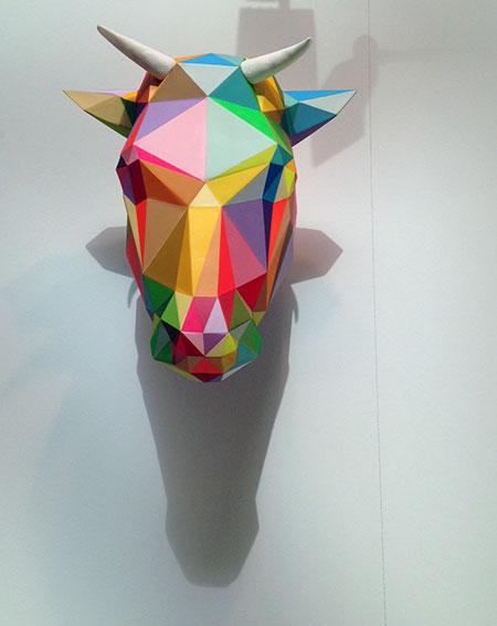Okuda, Bull, cabeza de vaca de colores
