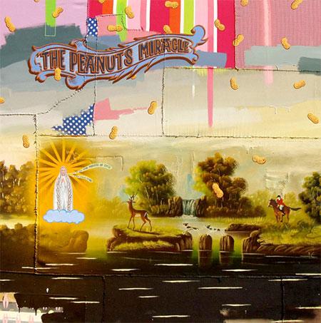 Julio Falagán. The peanuts miracle, 2009. Técnica mixta sobre telas y cuadros populares. Galería 6mas1, Madrid