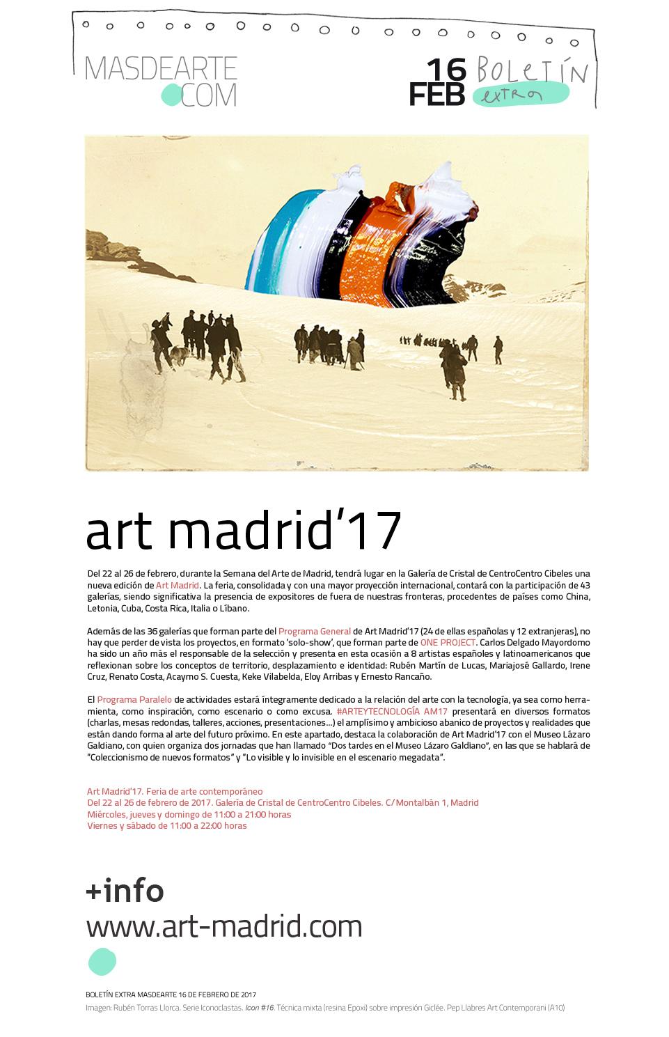 ferias de arte en Madrid: 12ª edición de Art Madrid,  del 22 al 26 de febrero de 2017