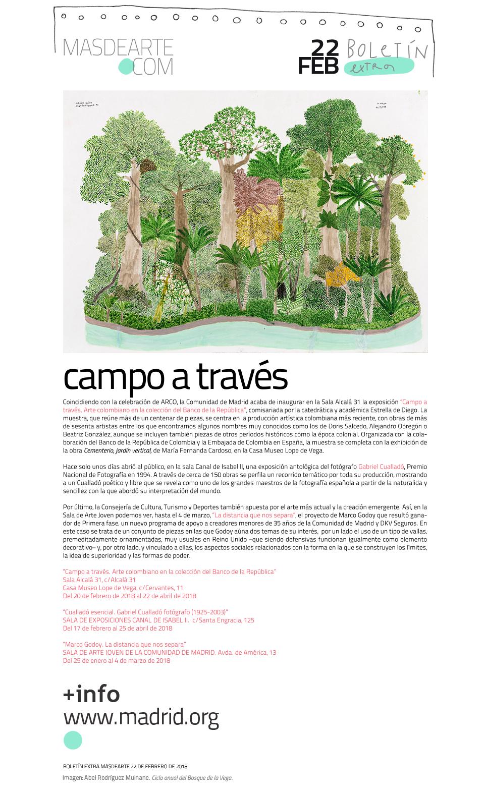 Programación del mes de febrero en los Espacios para el Arte Contemporáneo de la Comunidad de Madrid: Sala Alcalá 31, Sala Canal de Isabel II y Sala de Arte Joven