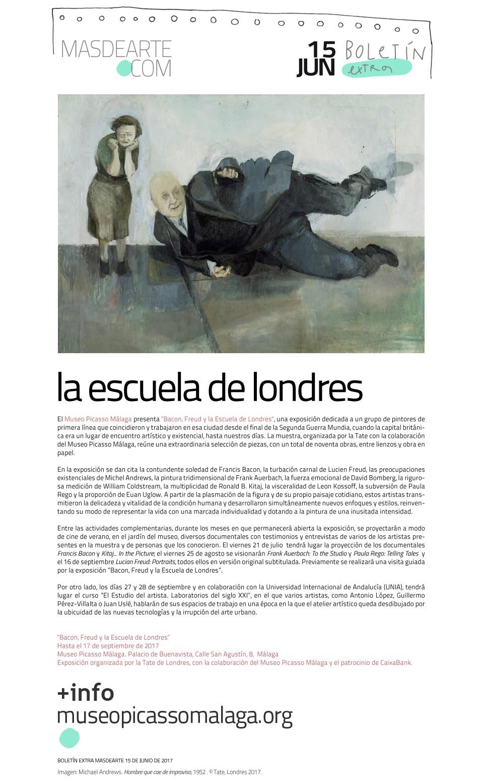 La Escuela de Londres. Exposición en el Museo Picasso Málaga,  hasta el 17 de septiembre de 2017