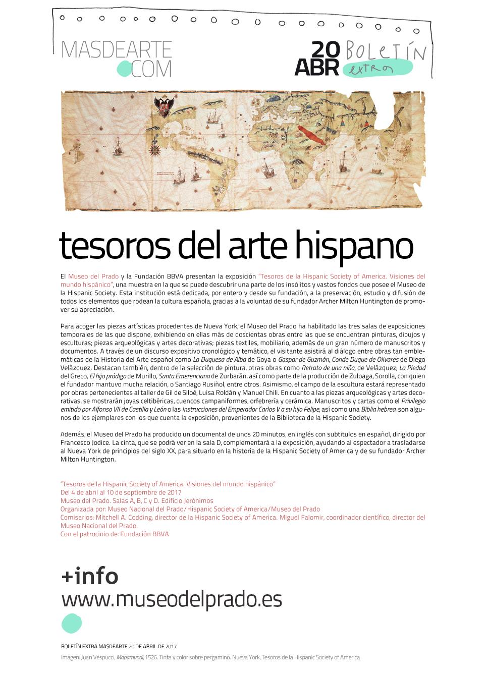 Tesoros de la Hispanic Society of America en el Museo del Prado. Hasta el 10 de septiembre de 2017