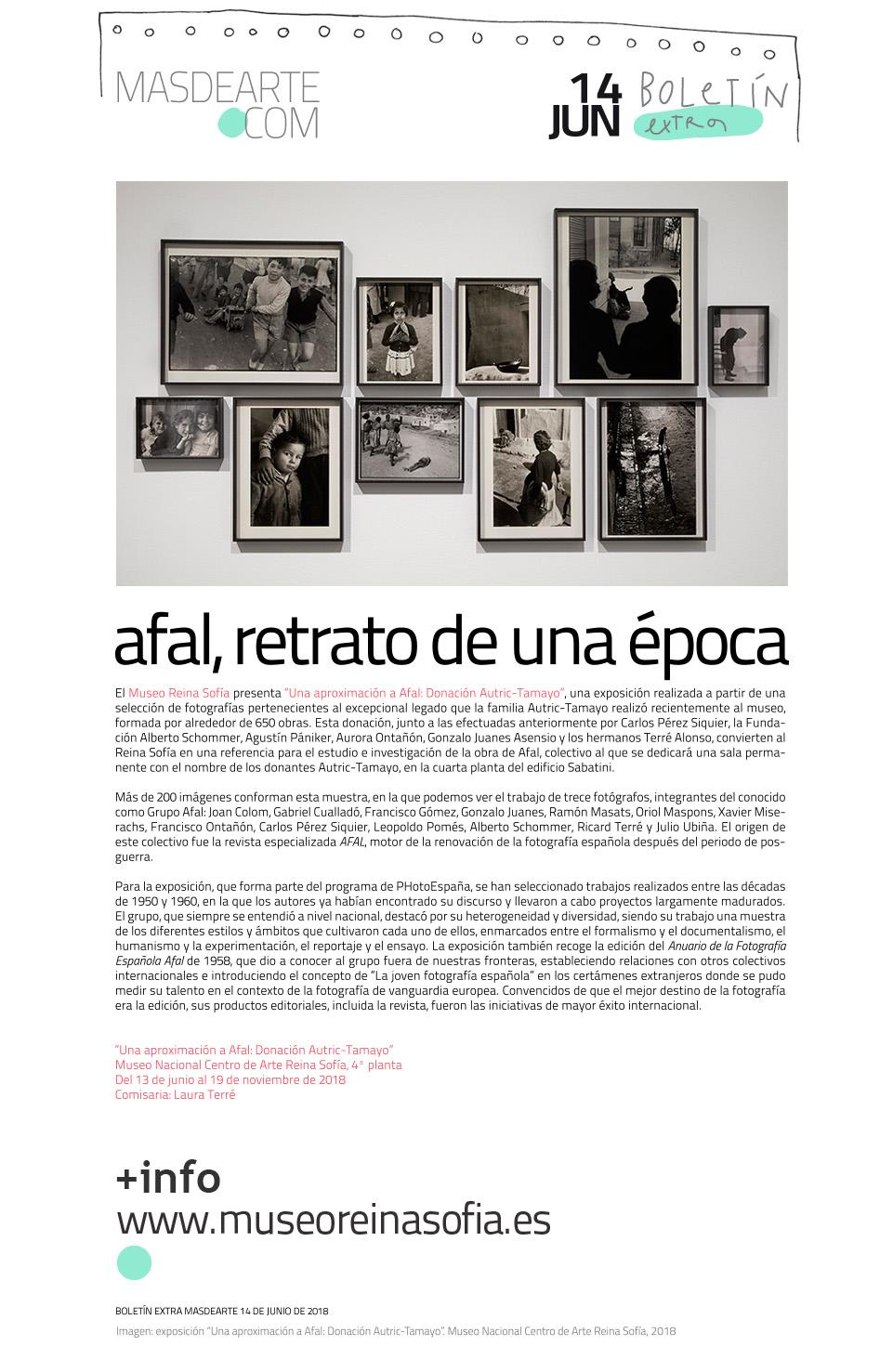 """Exposición """"Una aproximación a Afal. Donación  Autric-Tamayo"""". Hasta el 19 de noviembre de 2018 en el Museo Reina Sofía"""