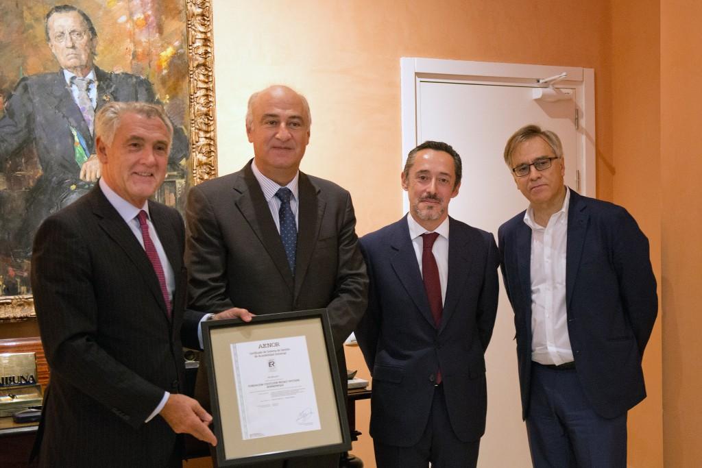 Evelio Acevedo, Fernando Benzo, Jesús Gómez-Salomé y Guillermo Solana