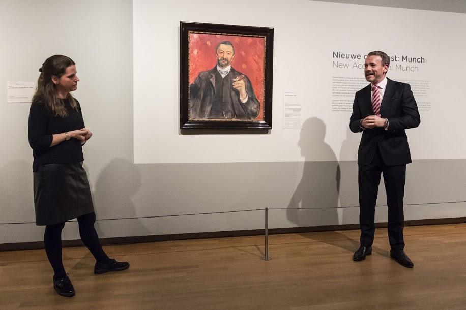 Edvard Munch. Frank Auerbach, 1906. Van Gogh Museum, Ámsterdam