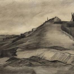 La colina de Montmartre con una cantera, el nuevo dibujo de Van Gogh