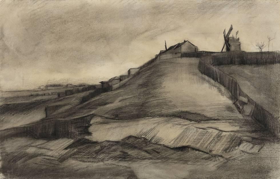 Van Gogh. La colina de Montmartre con una cantera, 1886