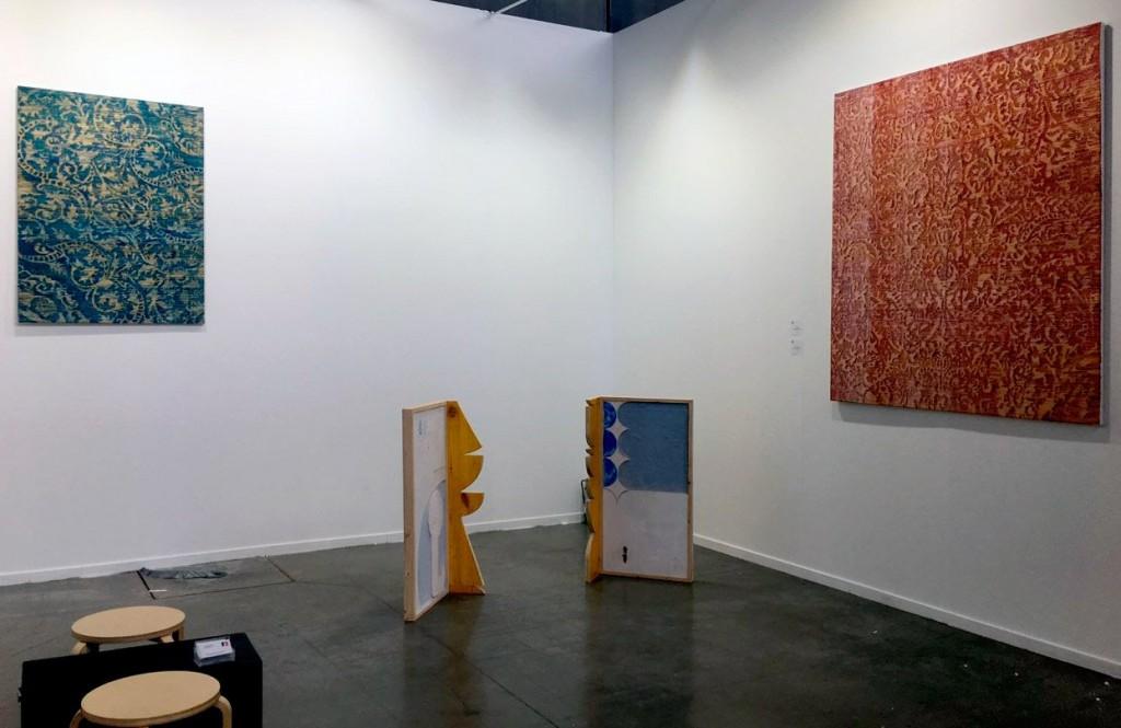 Obras de Diego Delas y Federico Miró en el stand de F2 en Estampa