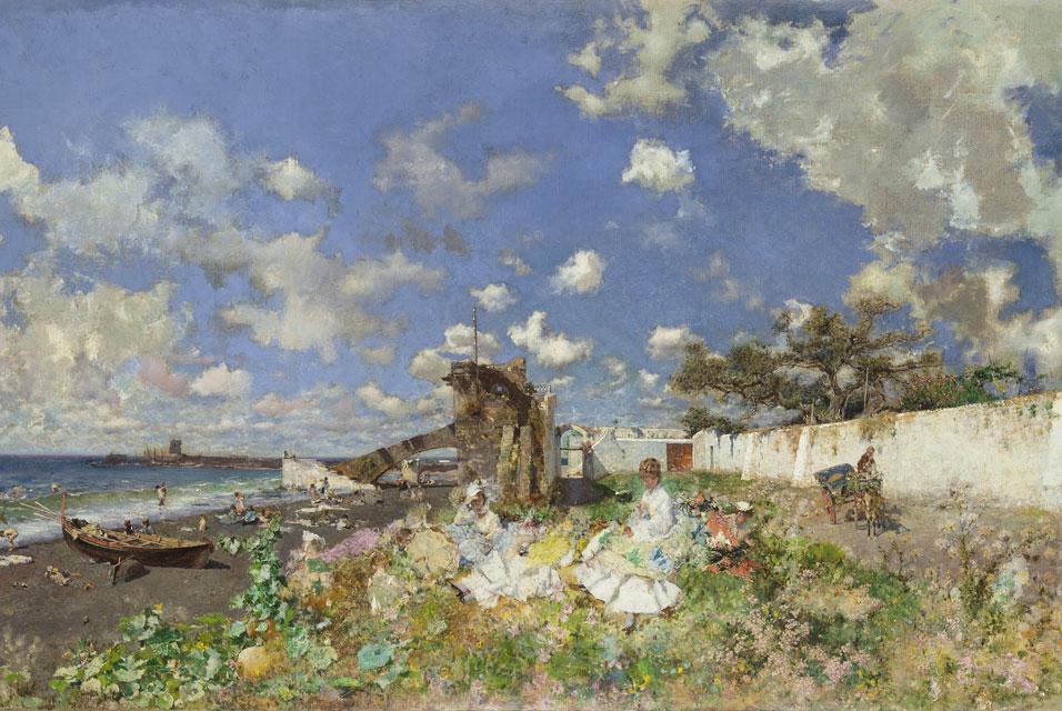 Mariano Fortuny. Playa de Portici, 1874. Meadows Museum, Dallas