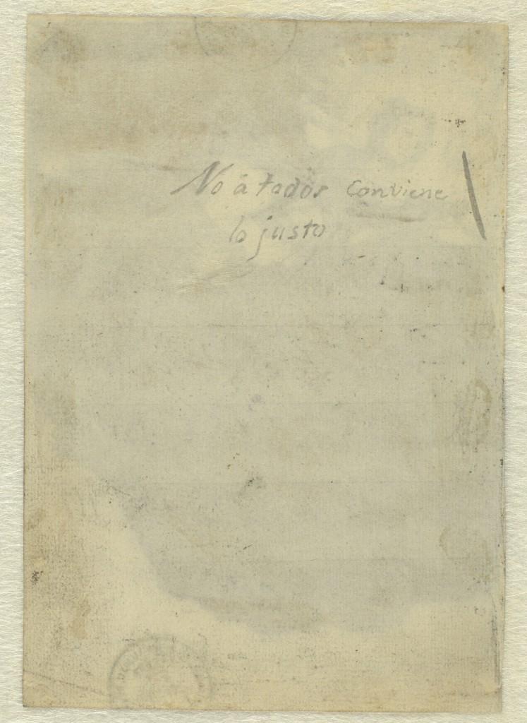 Inscripción en el reverso del dibujo Lux ex tenebris. Álbum C, 117