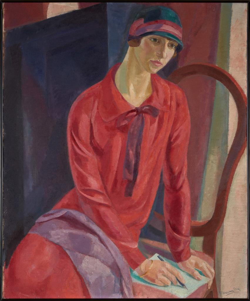 Daniel Vázquez Díaz. Mujer de rojo, 1931. Colección Jaime Botín