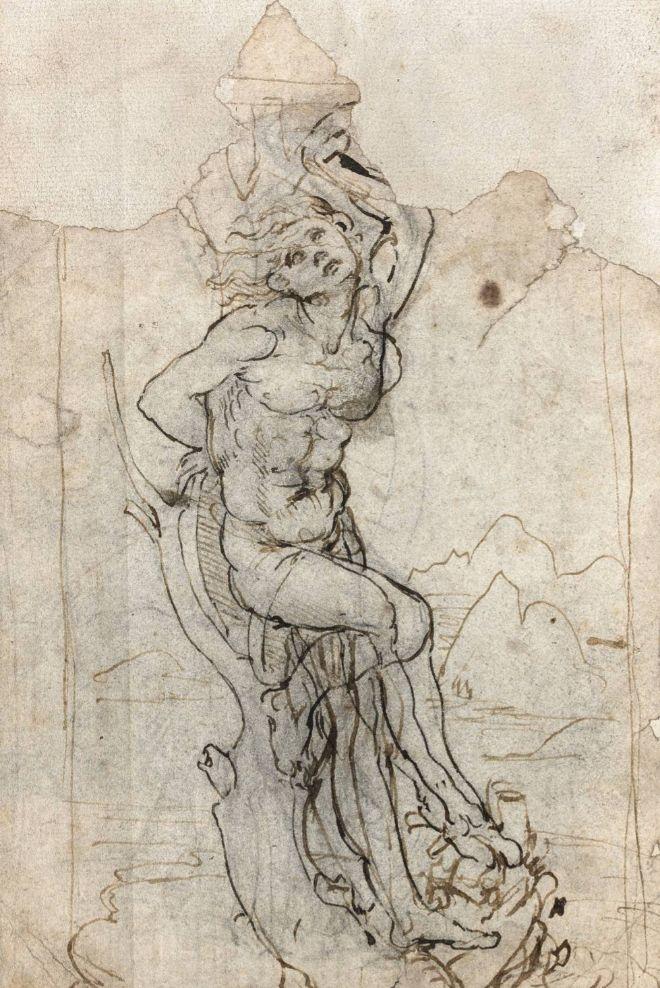 Atribuido a Leonardo da Vinci. San Sebastián, hacia 1482