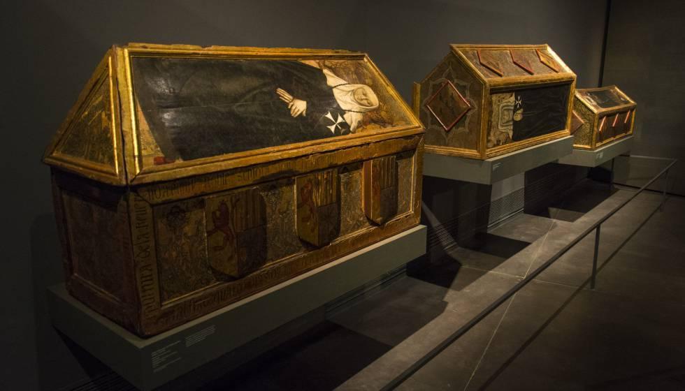 Arcas policromadas del s XIV procedentes de Sijena en el Museu de Lleida