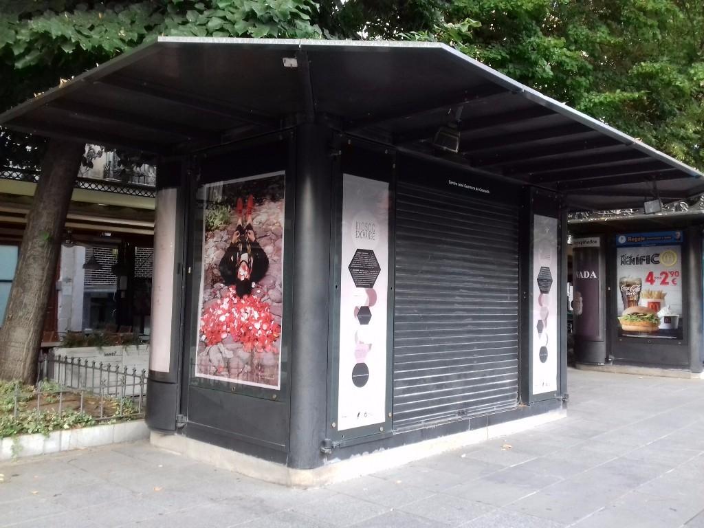 Kiosko granadino cuya programación artística gestiona el Centro José Guerrero