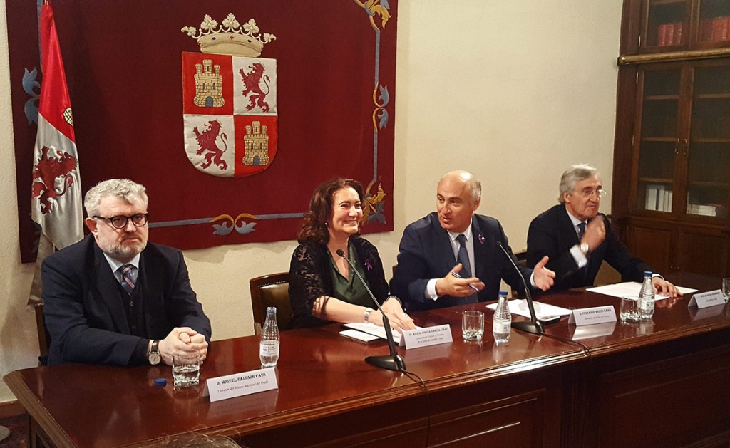 Fernando Benzo, María Josefa García, José Luis Rivas, Miguel Falomir y Pedro Feduchi presentan el proyecto arquitectónico de adecuación del Palacio de los Águila