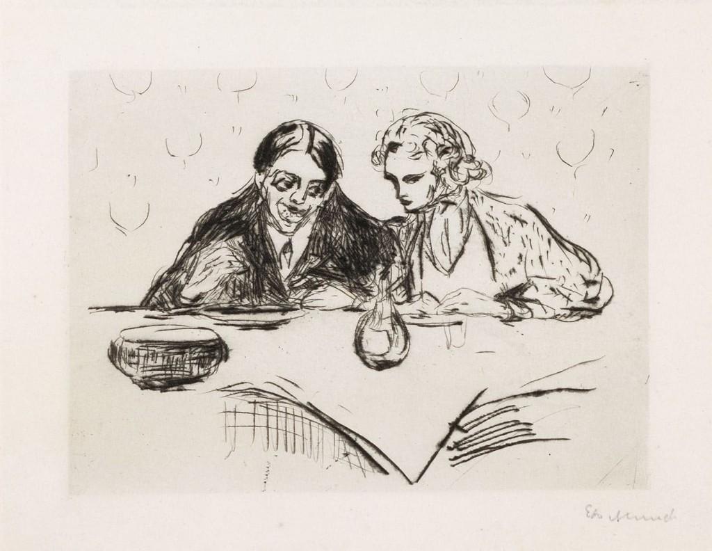 Edvard Munch. Evening Meal. Museum de Reede