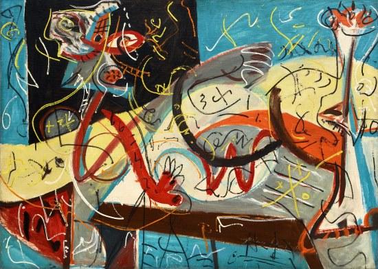 Jackson Pollock. Stenographic Figure, 1942. MoMA