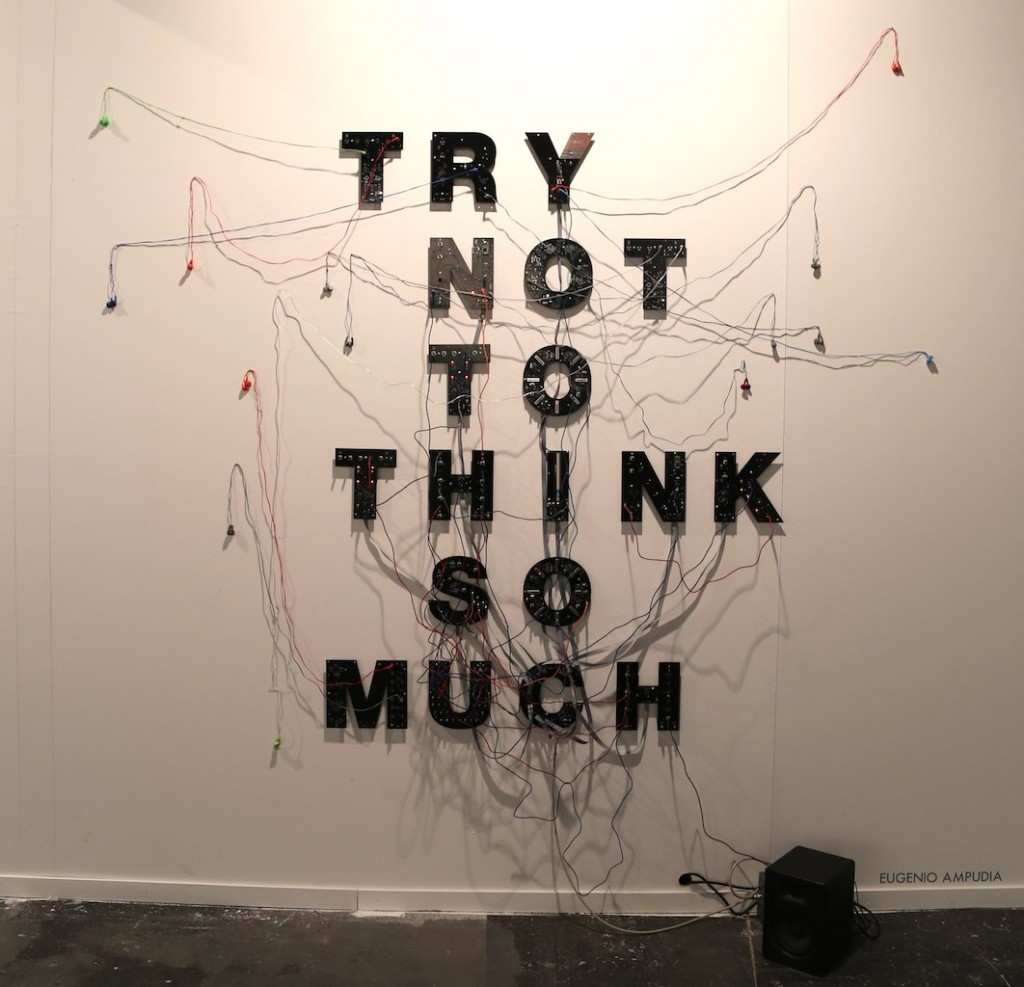 Eugenio Ampudia. Try not to think so much, 2018