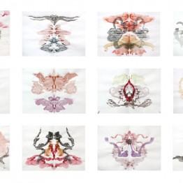 Ricardo González García. Manchas de Rorschach-azares primigenios(protomodelos), 2011. De Taxonomía del fetiche