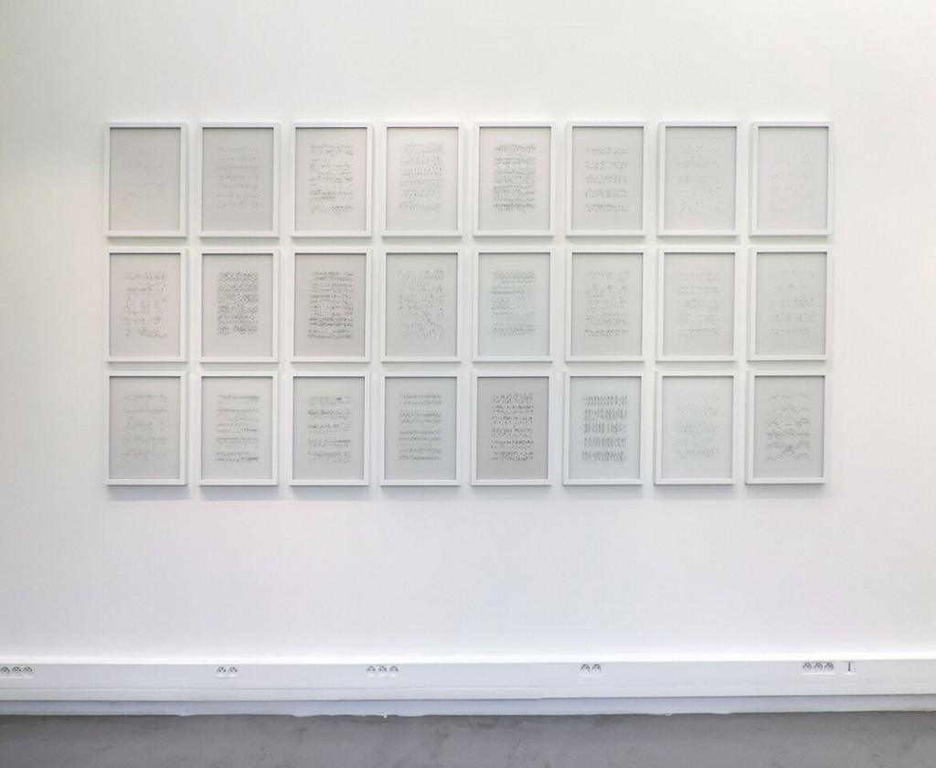 """Ana Pérez Ventura. Neumas en la exposición """"La mesure du Temps"""". Cortesía H Gallery"""