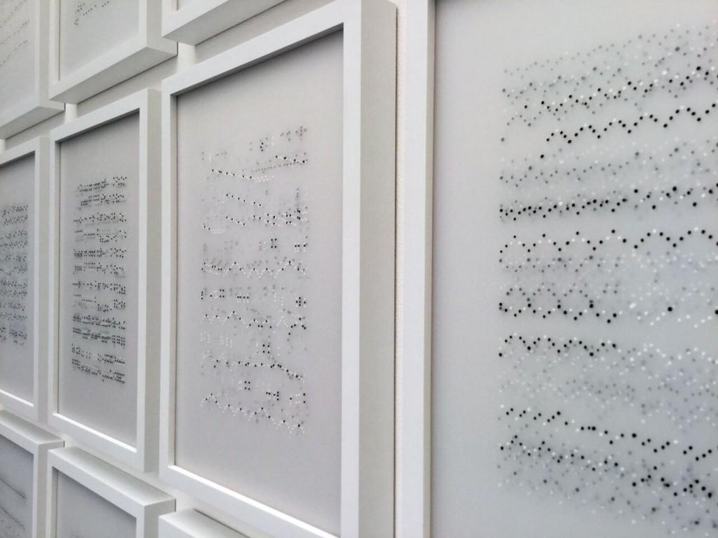 """Ana Pérez Ventura. Neumas en la exposición """"La mesure du Temps"""". Cortesía H"""