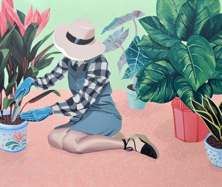 Helena Toraño. Las horas libres. Plantas de interior, 2016