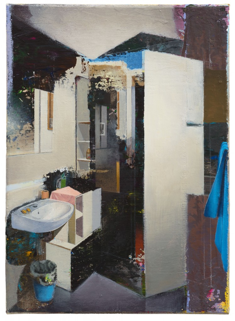 Carlos Sagrera. Painting the bathroom iV, 2016