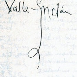 Firma de Valle-Inclán