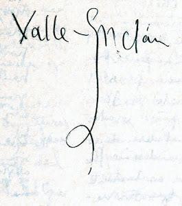 Firma de Valle-Inclán