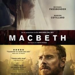 Macbeth cartel de la película de Michael Fassbender y Marion Cotillard