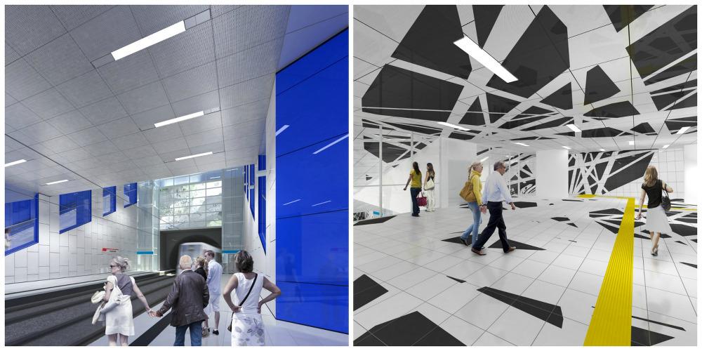 Las estaciones de Ursula Damm y Heike Klussmann en la Wehrhahn line