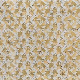 Federico Antelo. ORO – El Gran Pliego. Acrilico, acuarela, tinta china, pan de oro y cristales sobre papel. 76 x 96 cm, 2014