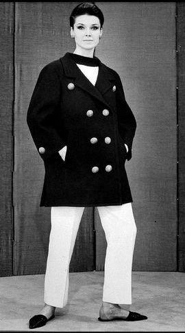 Yves Saint Laurent. Primer chaquetón marinero