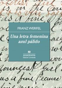 Franz Werfel. Una letra femenina azul palído