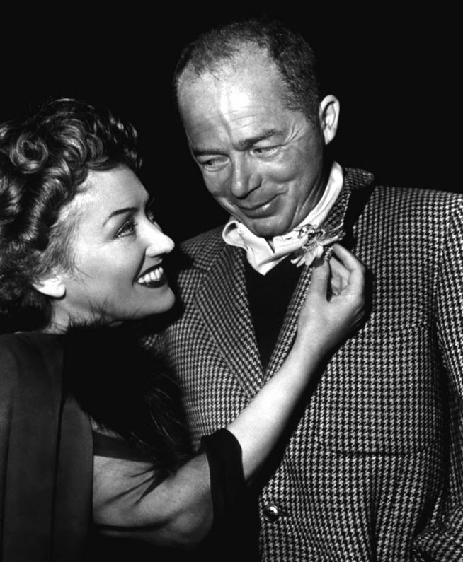 Billy Wilder junto a Gloria Swanson