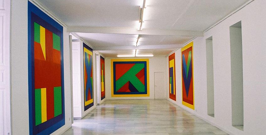 Galería Juana de Aizpuru. Vista de la exposición que le dedicó al artista Sol Lewitt en 2002