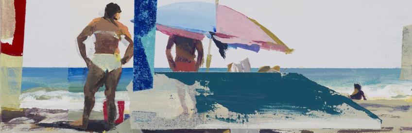 Galería Marlborough. Alfonso Albacete, Joc 4. Encuentro 2015 Acrílico sobre lienzo 24 x 33 cm