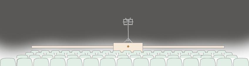 La batuta // El ayudante del director de orquesta