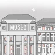 Ilustración museo (detalle) para Historias de los otros. Vigilantes