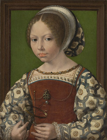 Jan Gossaert, Princesa con esfera armilar (Princess Dorothea of Denmark), c.1530. Londres, National Gallery.